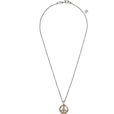 John Varvatos Peace Sign Pendant Necklace