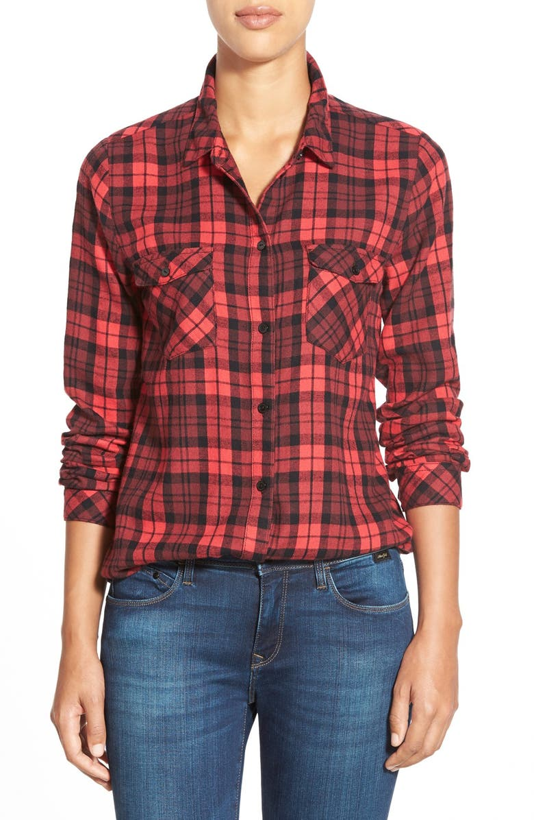 SANCTUARY 'Hoyden' Plaid Flannel Shirt, Main, color, 602