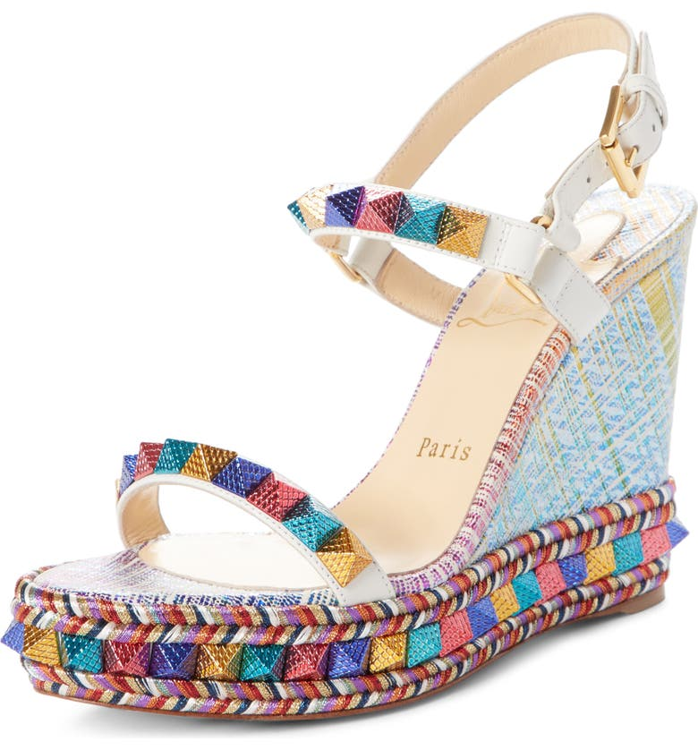 official photos 36783 4969a Pyraclou Studded Platform Wedge Sandal