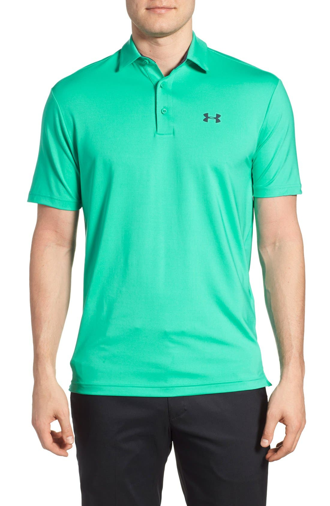 ,                             'Playoff' Loose Fit Short Sleeve Polo,                             Main thumbnail 175, color,                             349