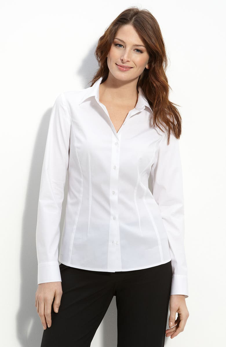 HALOGEN<SUP>®</SUP> Long Sleeve Fitted Shirt, Main, color, 100