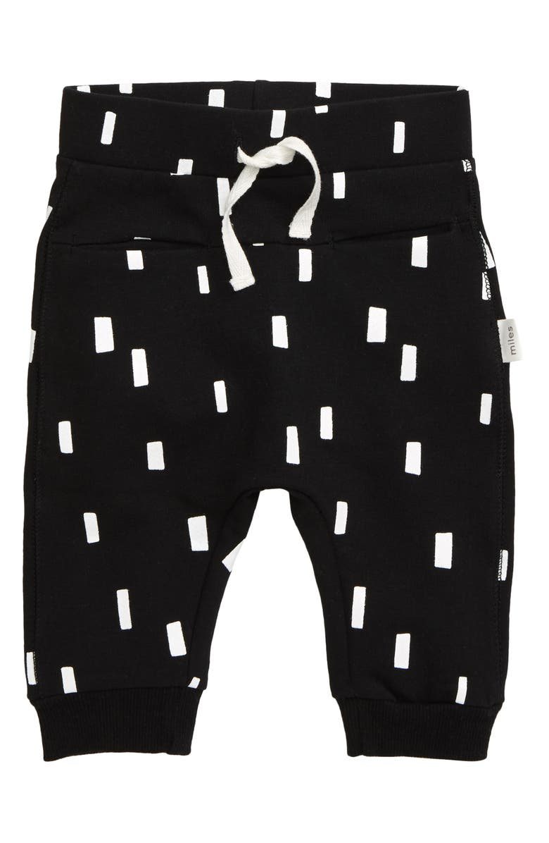 MILES BABY Graphic Jogger Pants, Main, color, BLACK