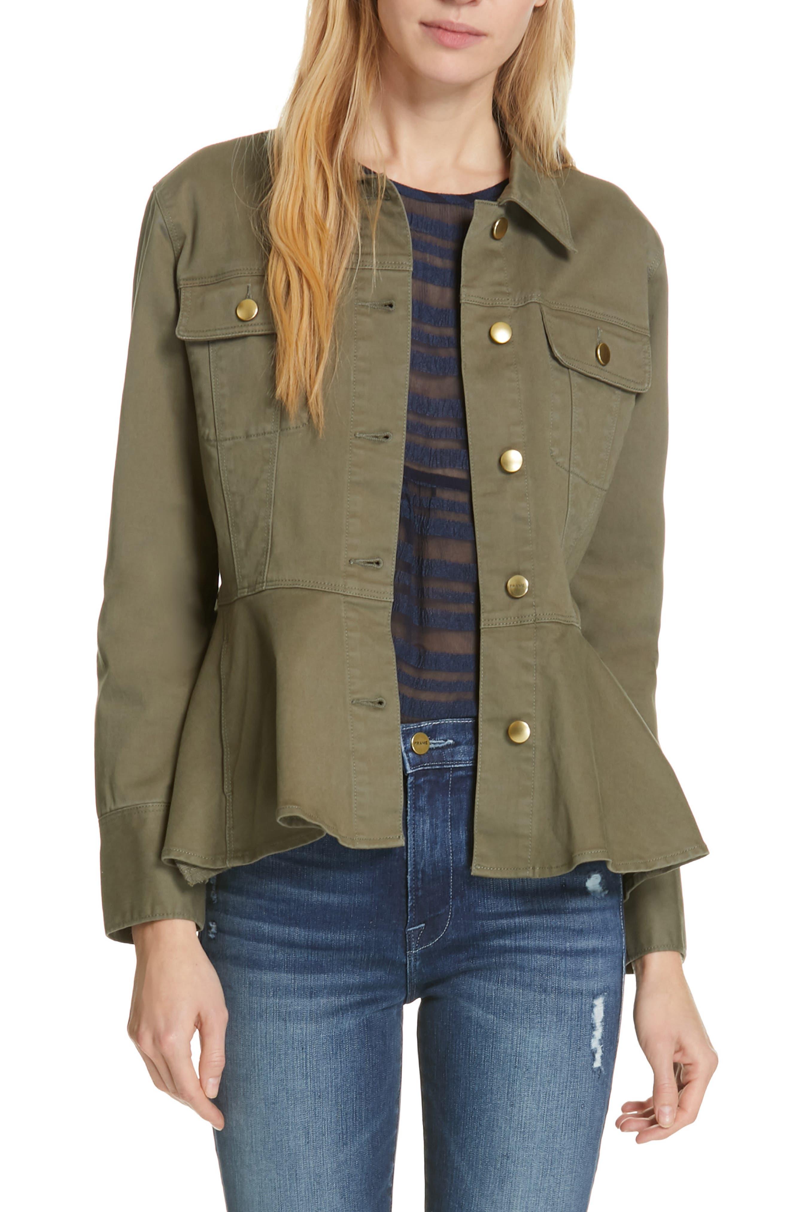 Frame Coats Flounce Hem Jacket