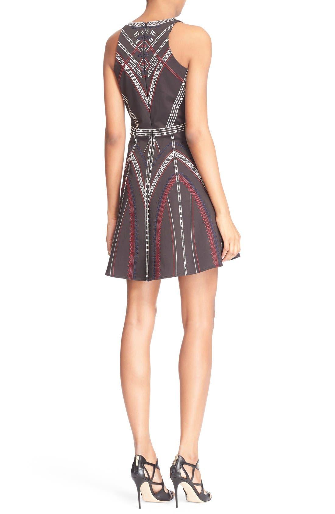 ,                             'Garnet' Embroidered Fit & Flare Dress,                             Alternate thumbnail 5, color,                             001