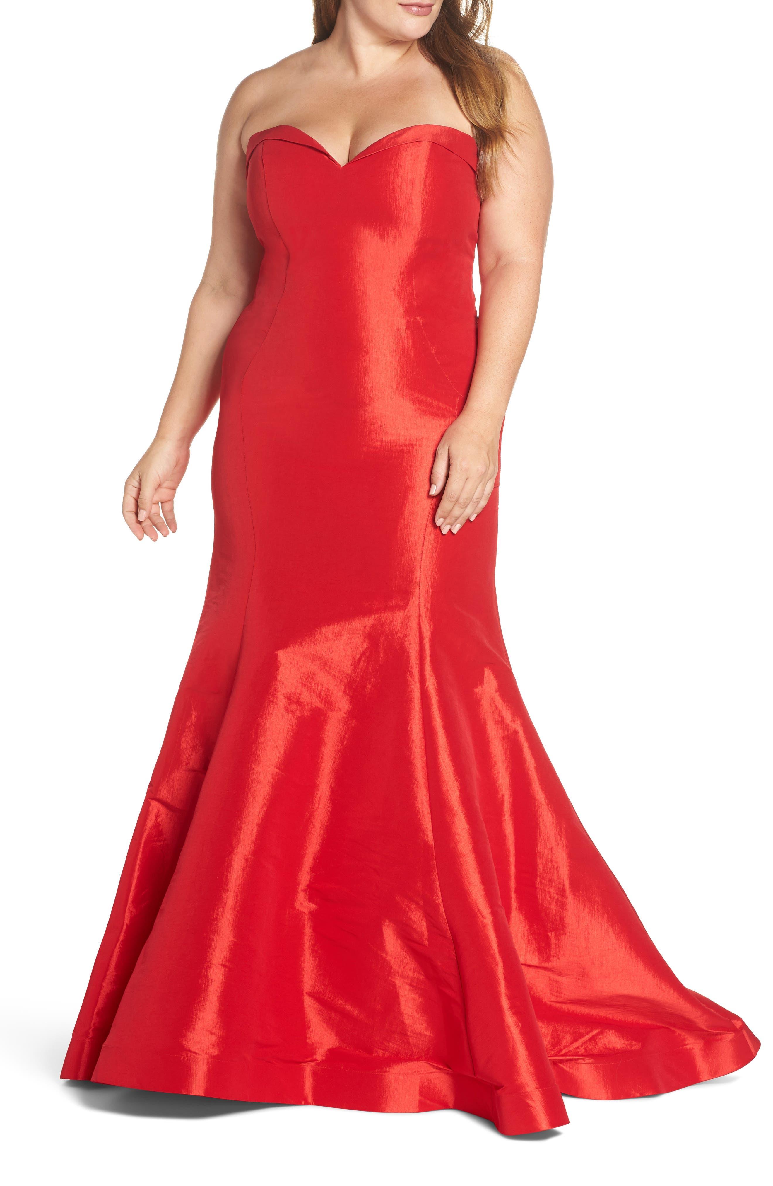 Plus Size MAC Duggal Bustier Mermaid Gown
