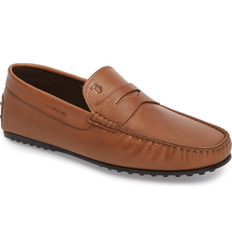TOD'S City Driving Shoe, Main, color, TAN LEATHER