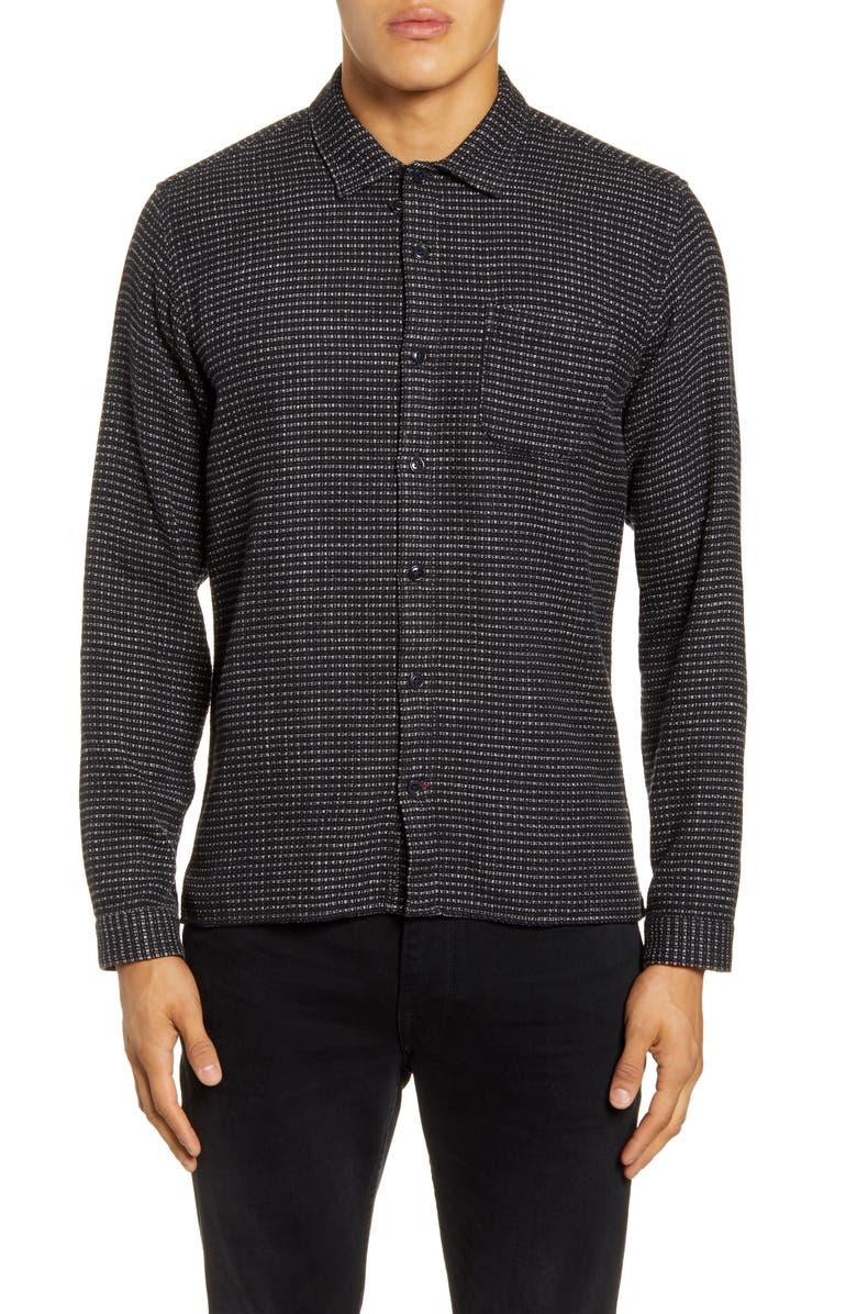 OLIVER SPENCER Slim Fit Button-Up Shirt, Main, color, RAVEN BLACK
