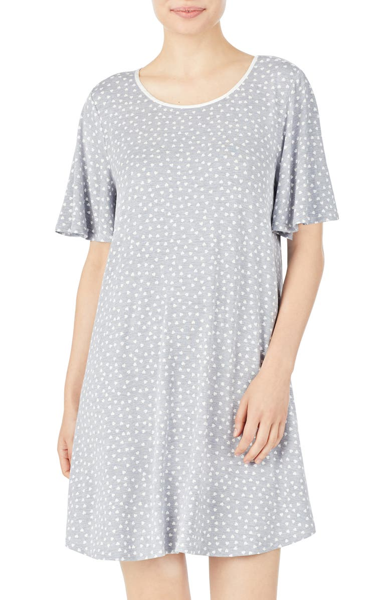 KATE SPADE NEW YORK sleep shirt, Main, color, MINI HEART