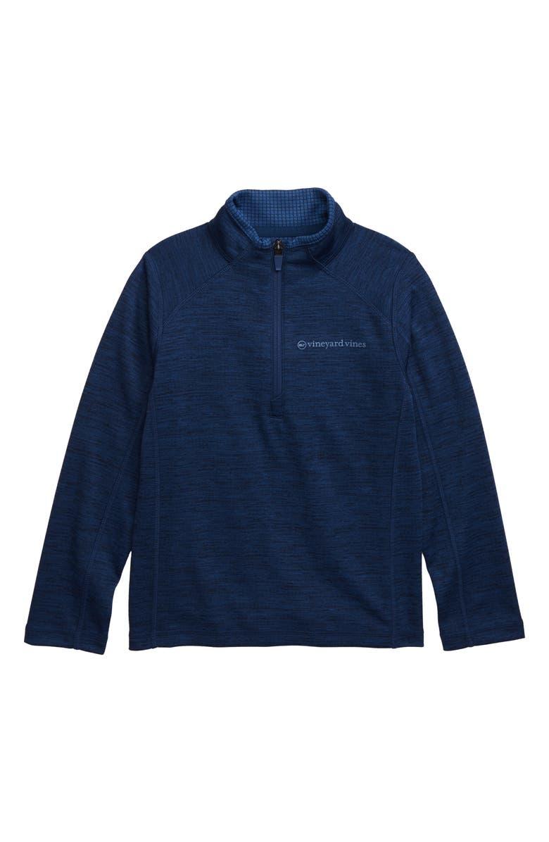 VINEYARD VINES The New Nine Mile Half Zip Pullover, Main, color, VINEYARD NAVY