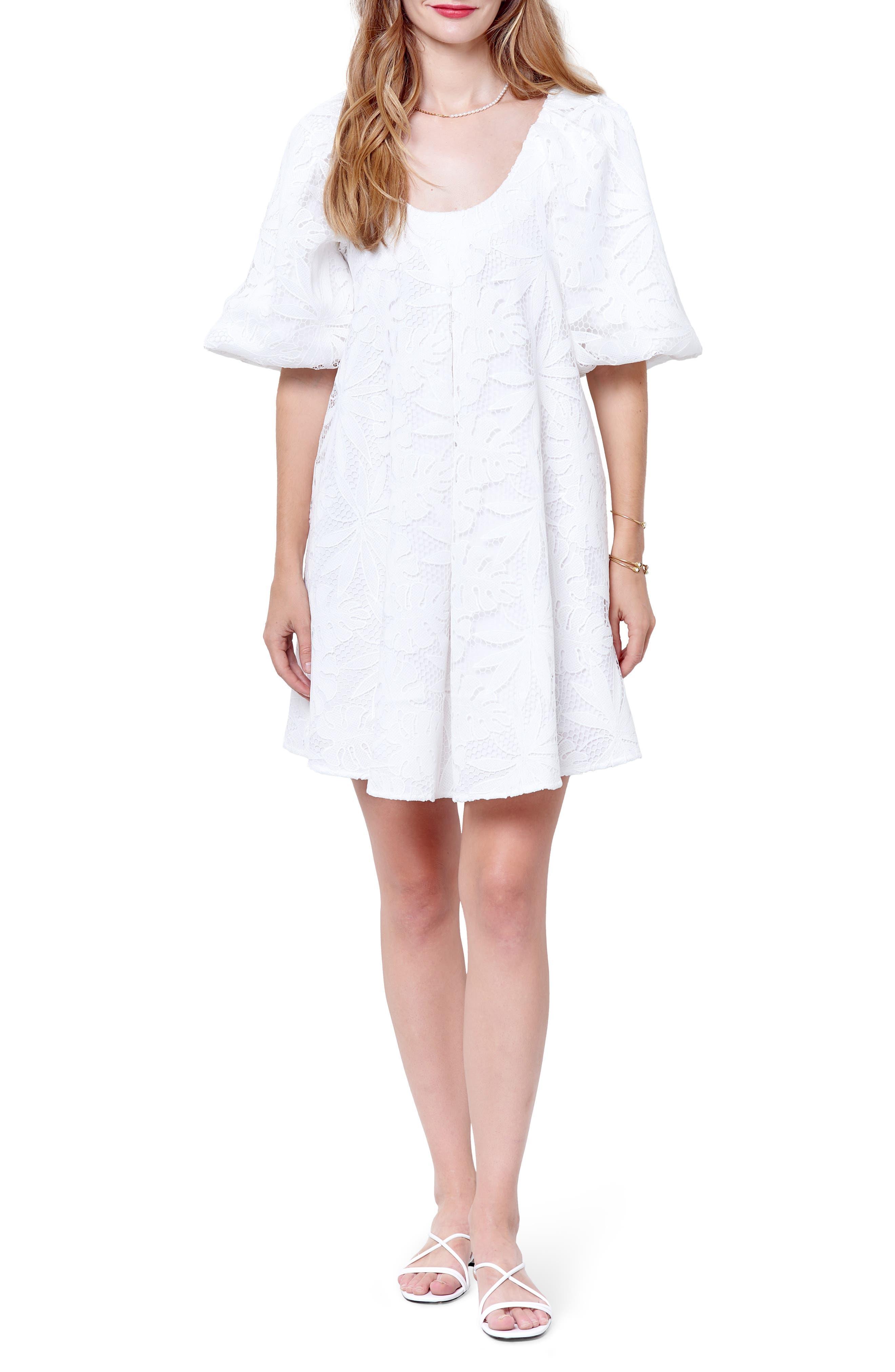 Women's Corey Lynn Carter Hariette Lace Puff Sleeve Minidress