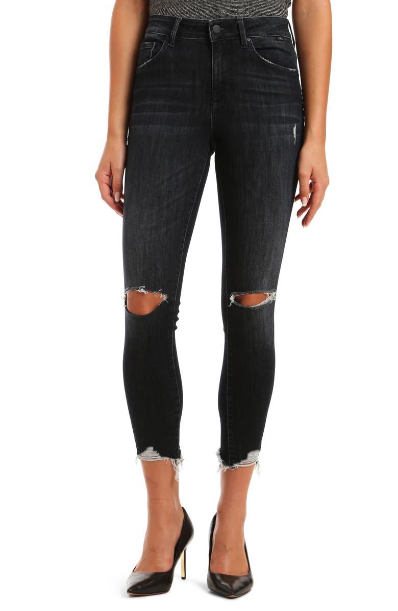 MAVI JEANS Tess High Waist Ripped Ankle Skinny Jeans, Main, color, 400