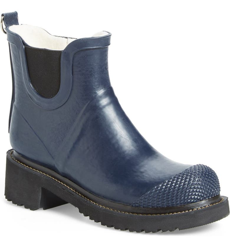 ILSE JACOBSEN 'RUB 47' Short Waterproof Rain Boot, Main, color, DARK INDIGO