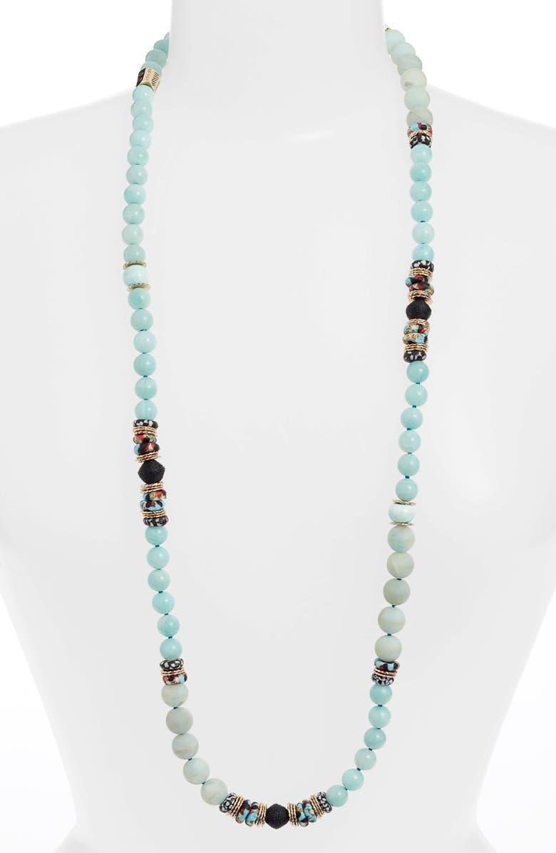 AKOLA Annie Long Beaded Necklace, Main, color, 400