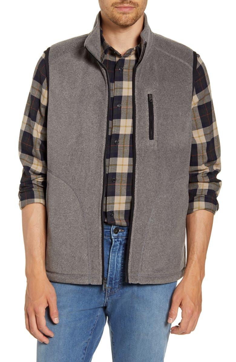 NORDSTROM MEN'S SHOP Polar Fleece Vest, Main, color, GREY CASTLEROCK