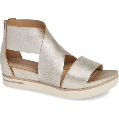 Eileen Fisher Sport Platform Sandal- Metallic