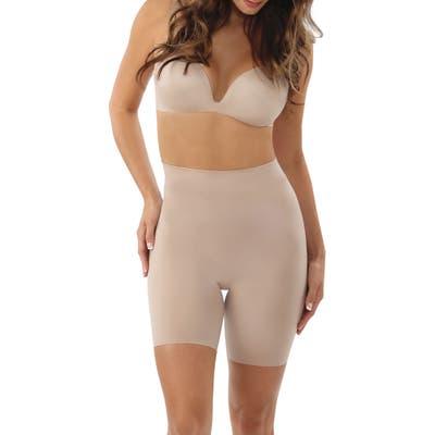 Belly Bandit Mother Tucker Shortie High Waist Compression Shorts, Beige