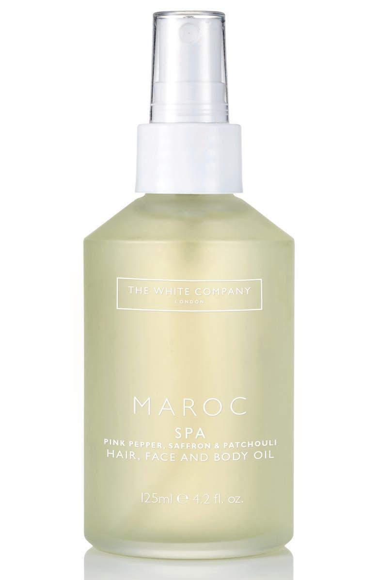THE WHITE COMPANY Maroc Spa Hair, Face & Body Oil, Main, color, 100