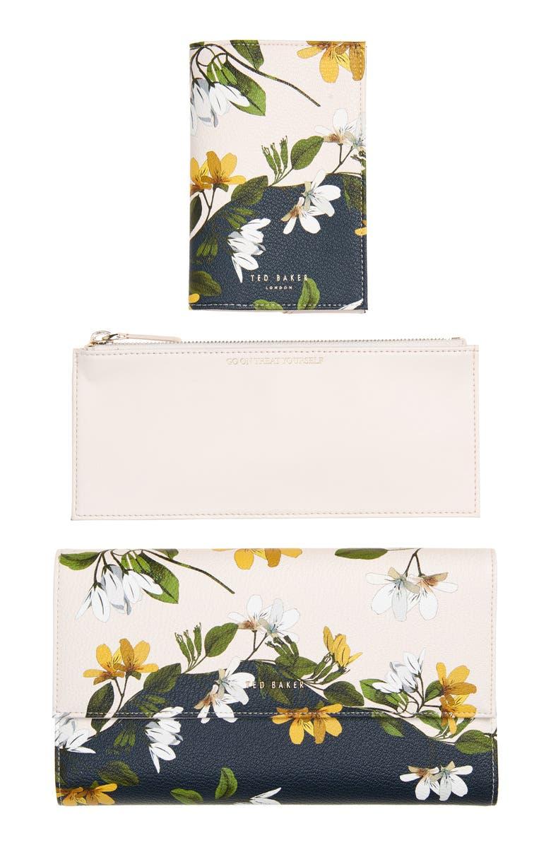 TED BAKER LONDON Jainey Savanna Leather Travel Wallet, Main, color, PL-PINK