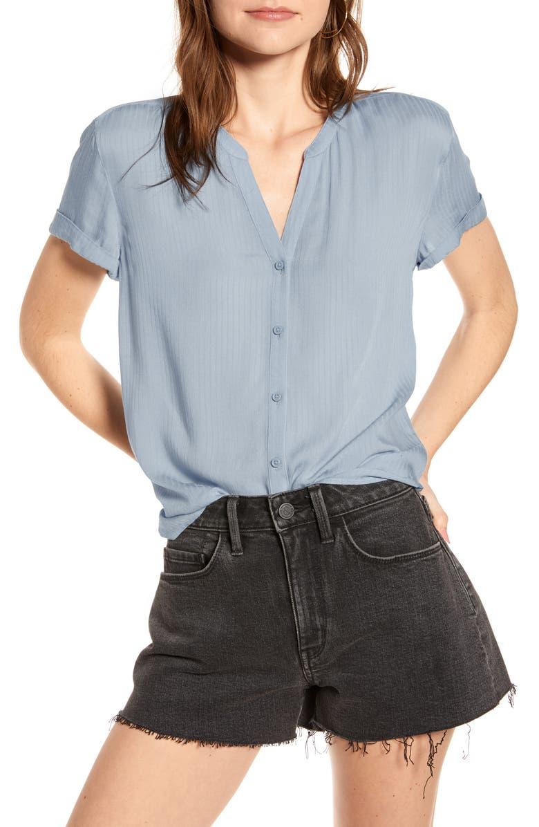 TREASURE & BOND Shadow Stripe Shirt, Main, color, BLUE FOG