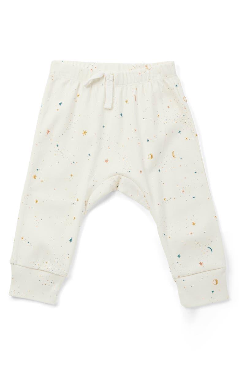 PEHR Celestial Organic Cotton Pants, Main, color, IVORY MULTI