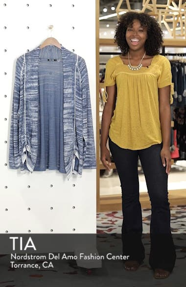 Sand Dune Ruched Sleeve Cardigan, sales video thumbnail