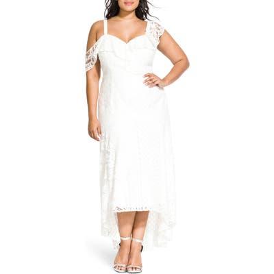 Plus Size City Chic Femme Fatale Maxi Dress