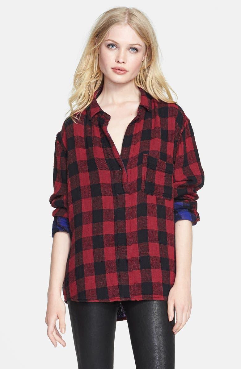 RAG & BONE/JEAN 'The Leeds' Plaid Shirt, Main, color, 600