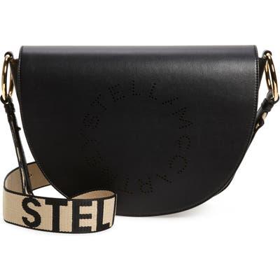 Stella Mccartney Flap Faux Leather Shoulder Bag - Black
