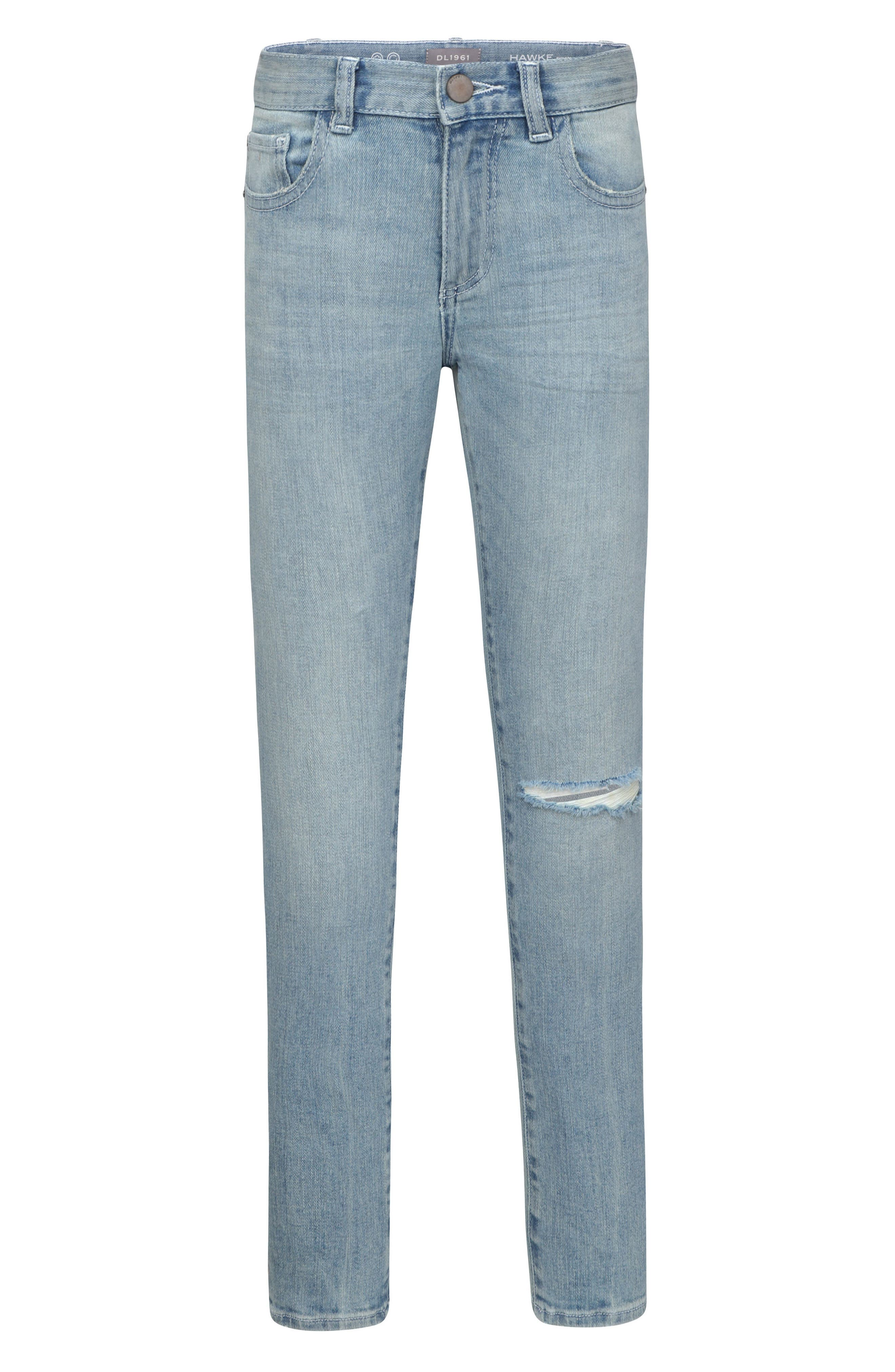 Distressed Stretch Skinny Jeans, Main, color, WHIRLWIND