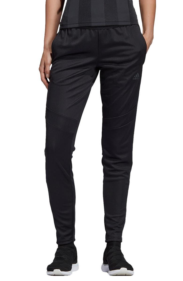 ADIDAS 3-Stripes Slim Football Pants, Main, color, 001