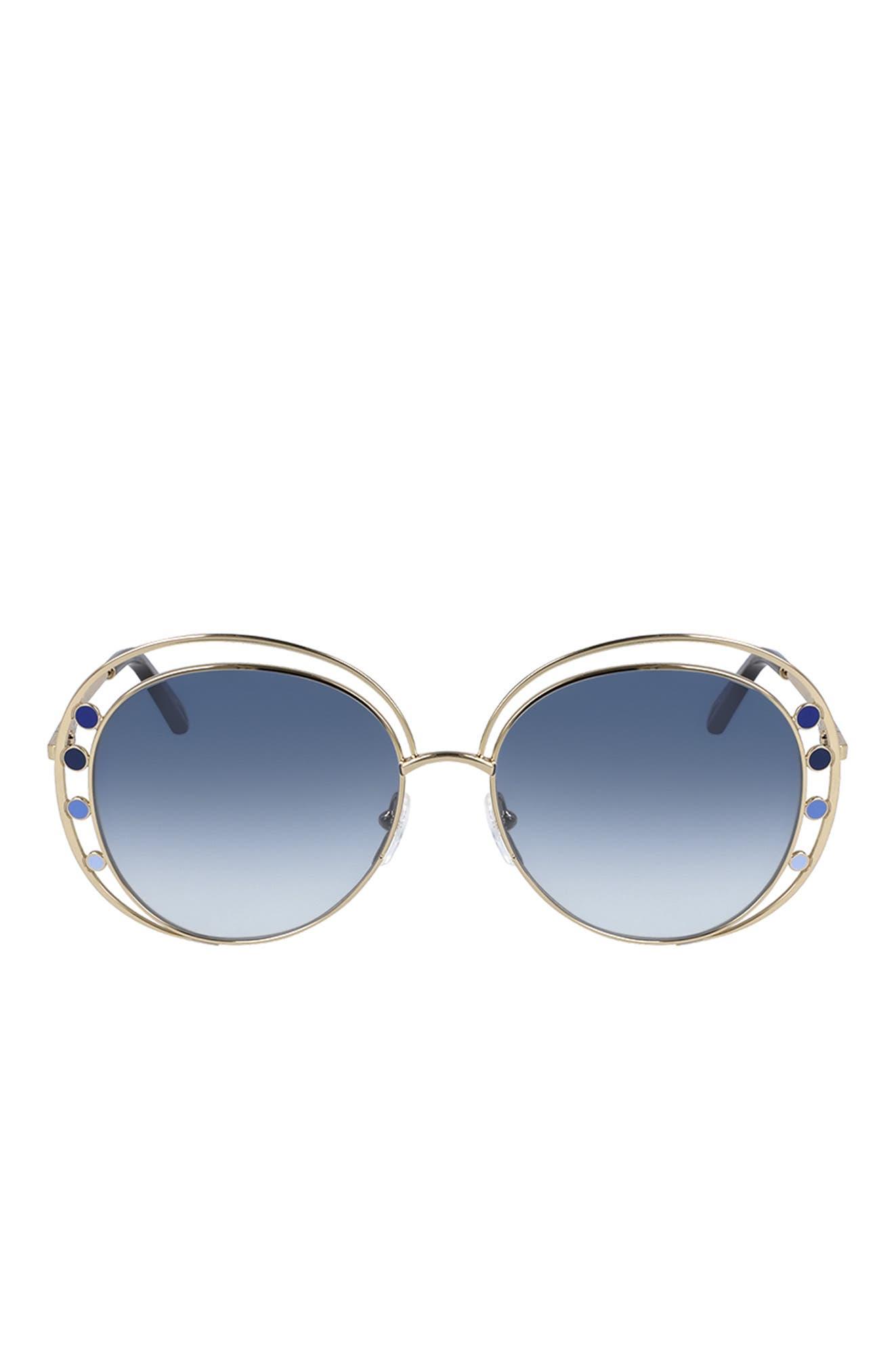 Image of Chloe Round 57mm Sunglasses