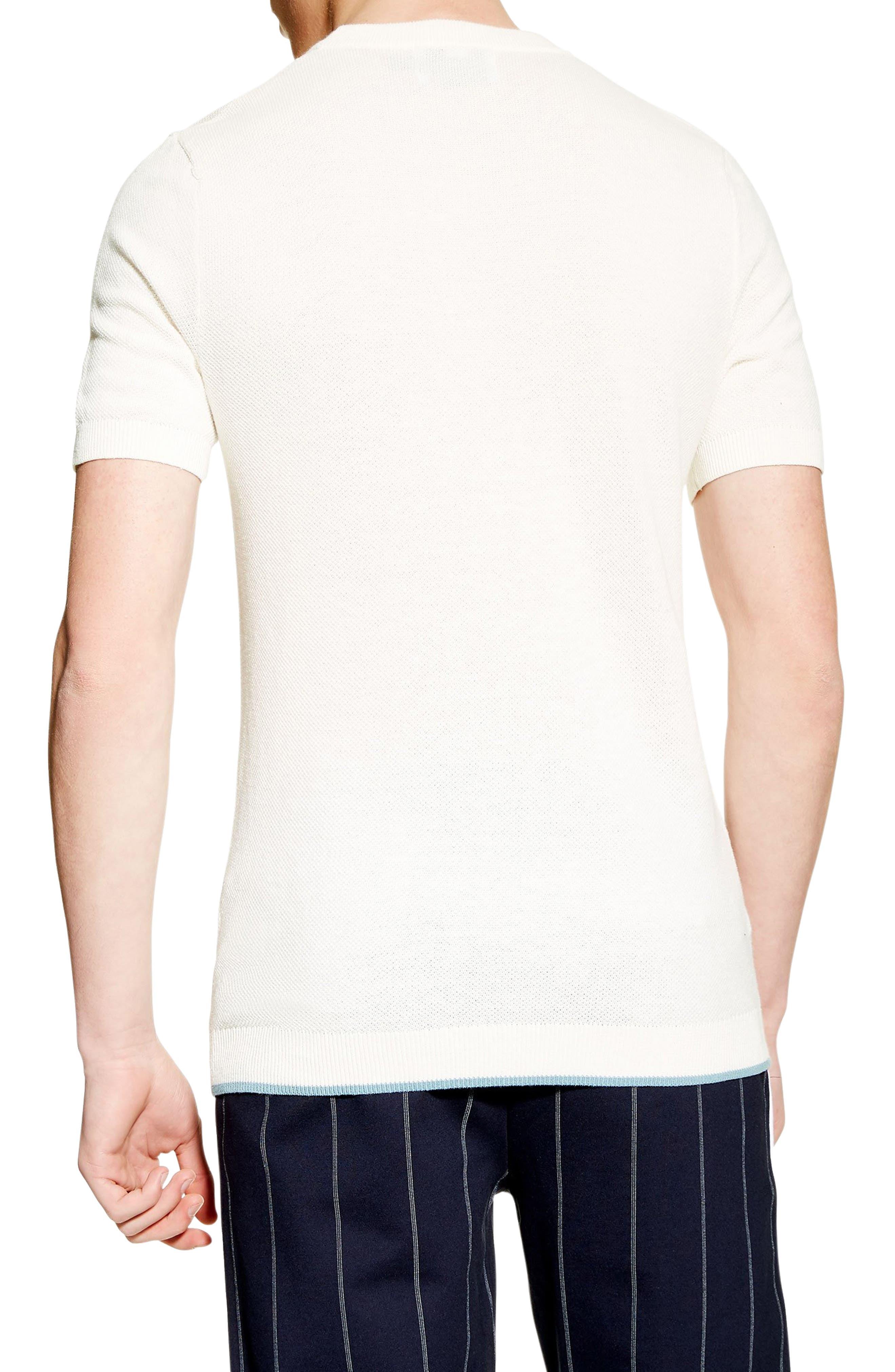 ,                             Piqué Knit Sweater T-Shirt,                             Alternate thumbnail 2, color,                             WHITE
