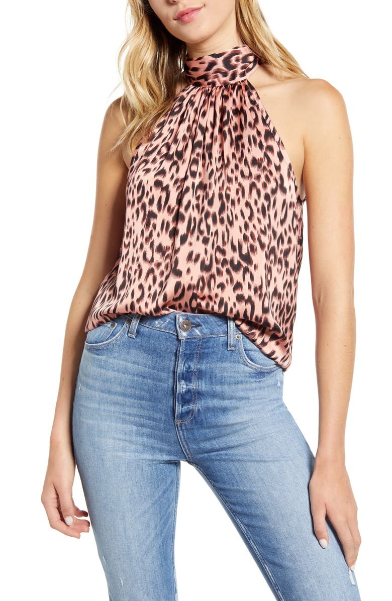 BISHOP + YOUNG Tie Neck Sleeveless Top, Main, color, 200