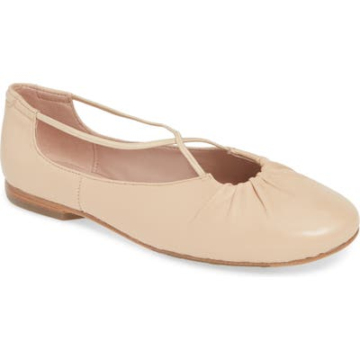 Taryn Rose Collection Alessandra Ballet Flat- Beige