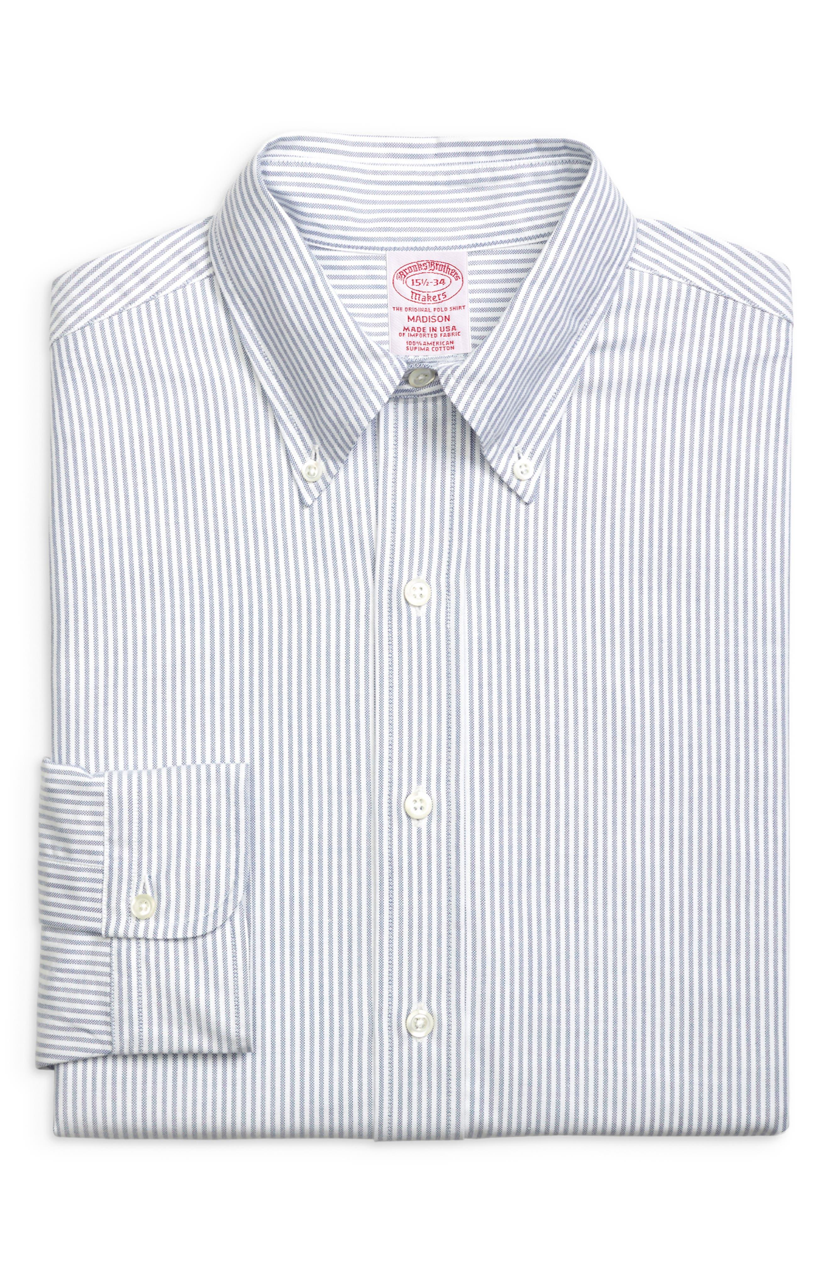 Madison Classic Fit Stripe Dress Shirt