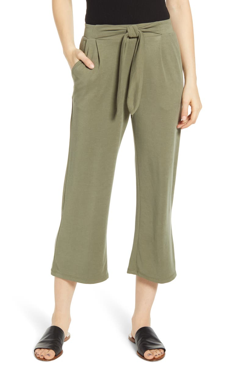 HEARTLOOM Mara Crop Pants, Main, color, OLIVE