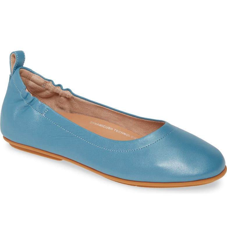 8a406872910537 Allegro Ballet Flat, Main, color, TURQUOISE LEATHER