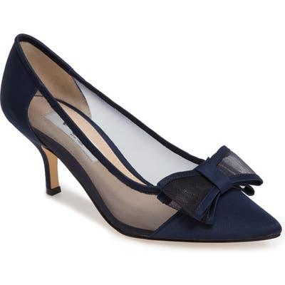 Nina Bianca Pointy Toe Pump, Blue