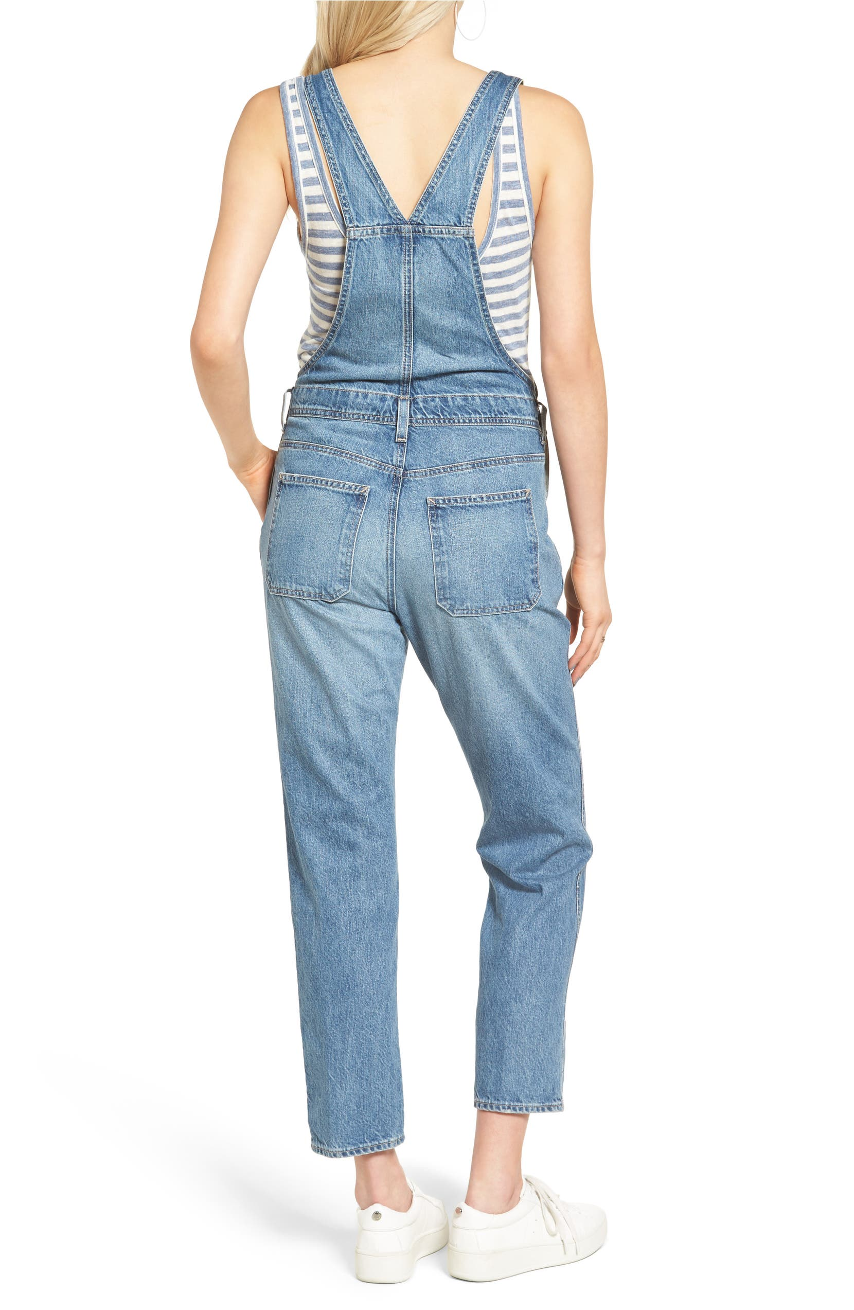 vast selection lace up in wholesale price Leah Denim Overalls