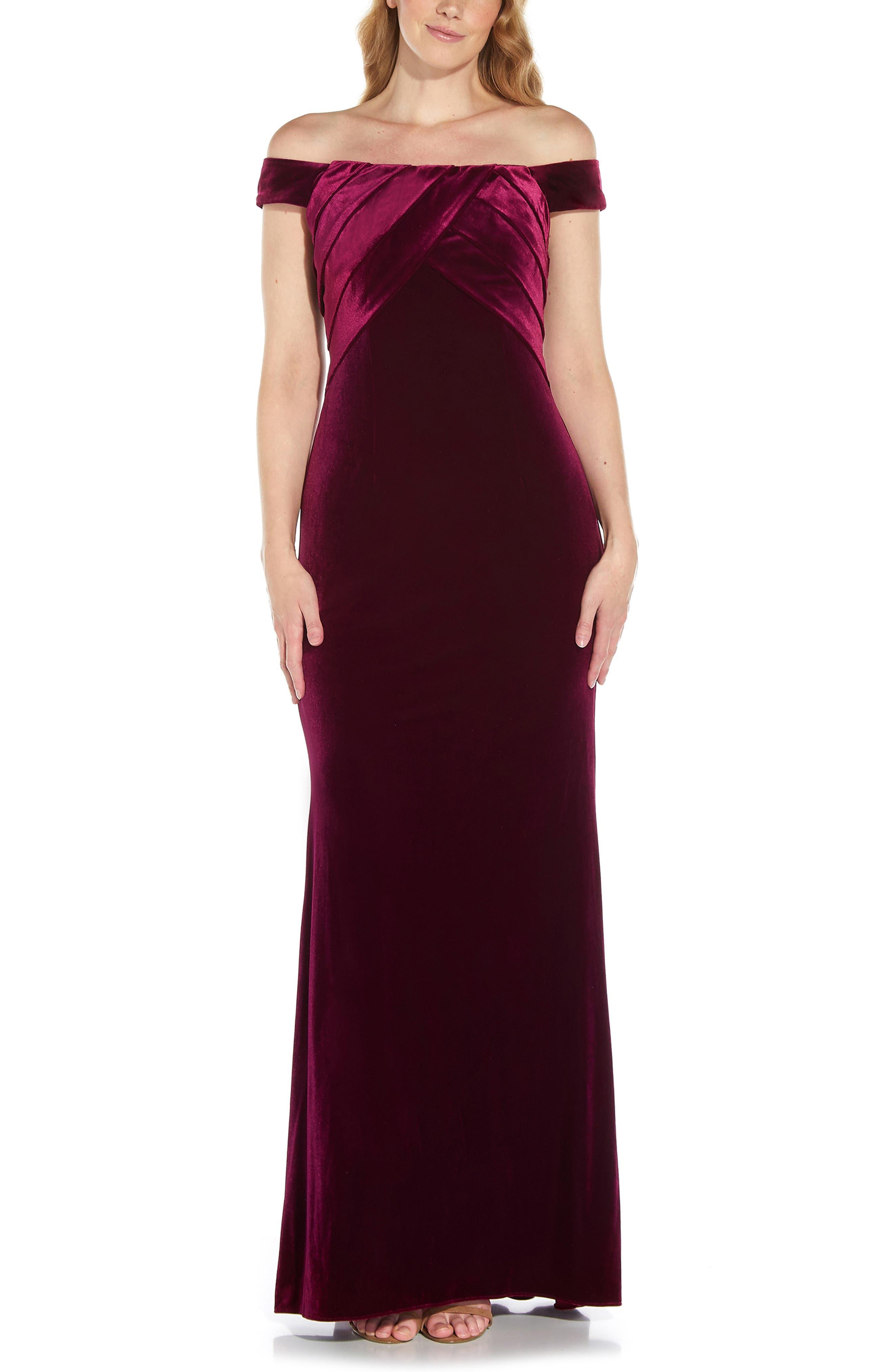 Off The Shoulder Velvet Mermaid Gown
