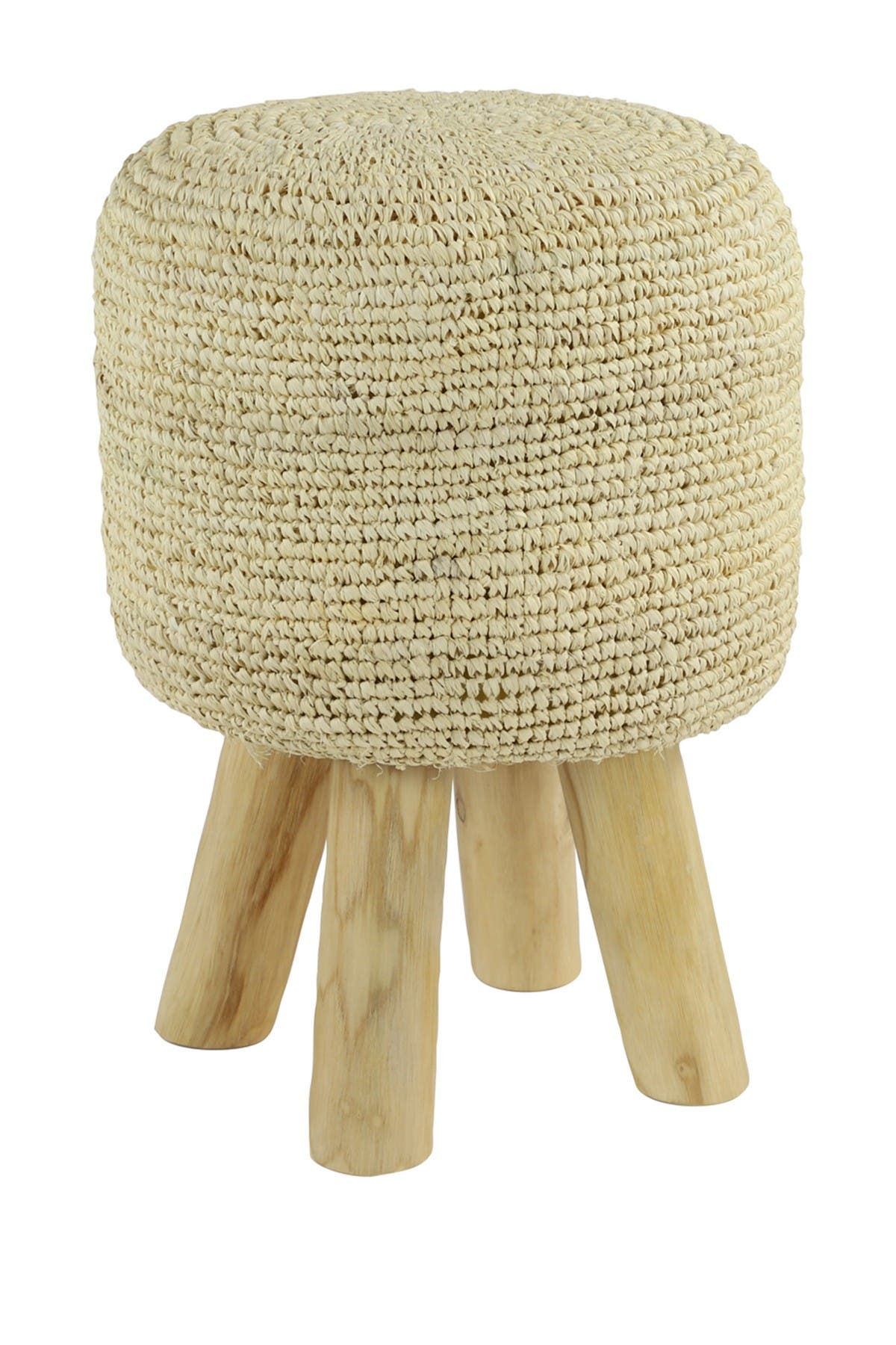 Image of Willow Row Fabric White Stool