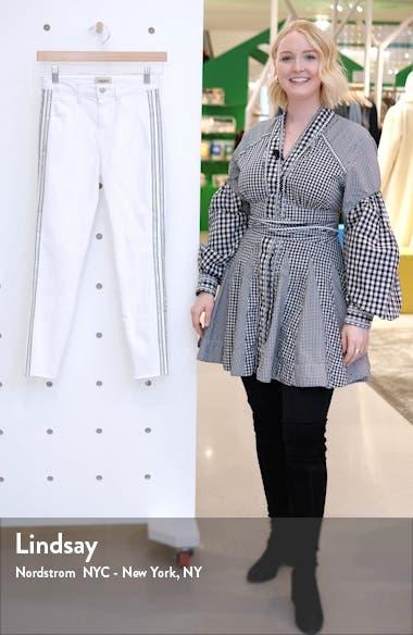 Margot Crystal Side Stripe High Waist Skinny Jeans, sales video thumbnail
