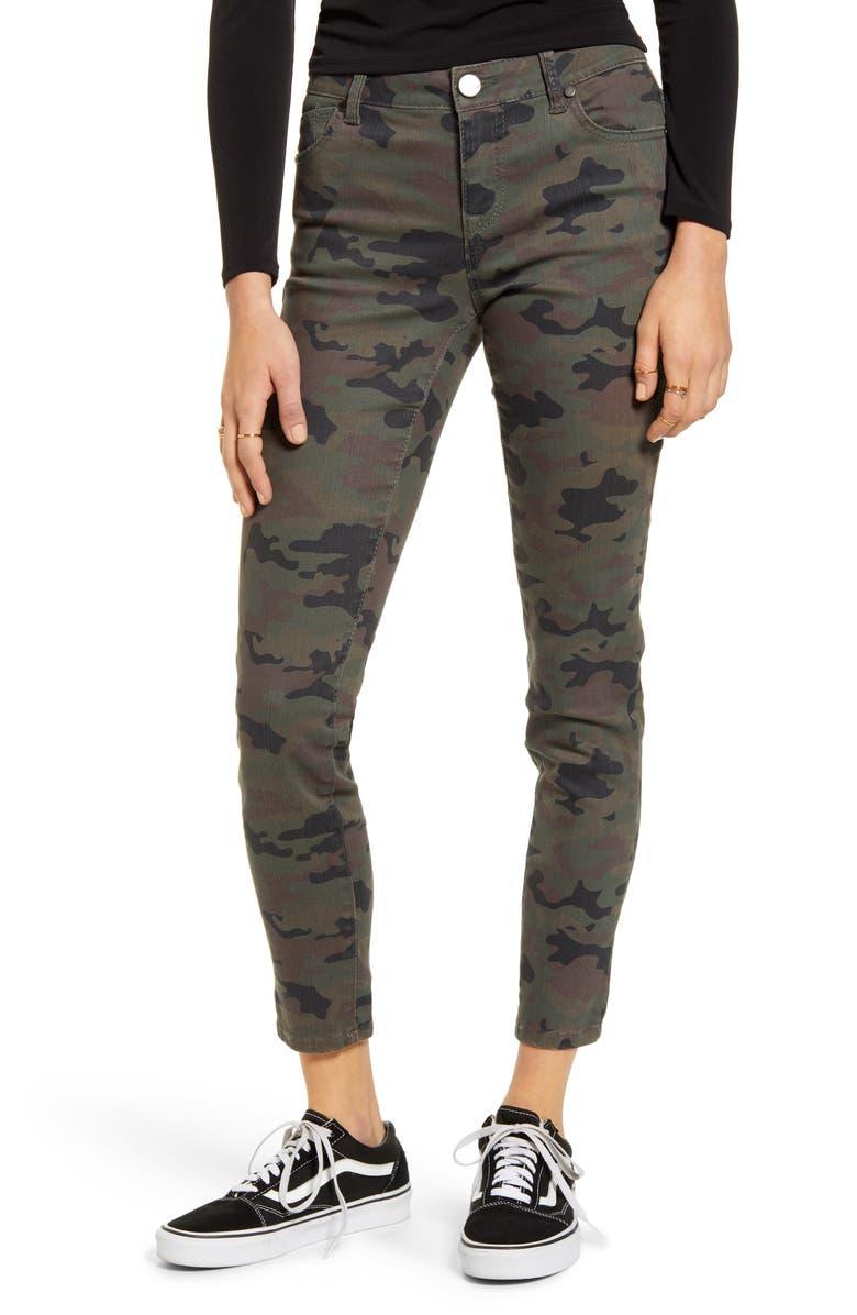 1822 DENIM Camo Skinny Ankle Jeans, Main, color, 300