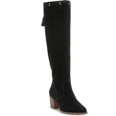 Sole Society Aresa Knee High Boot- Black