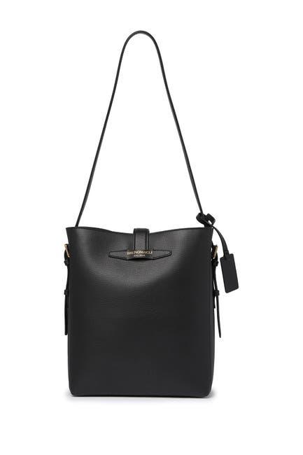 Image of Bruno Magli Slide Thru Leather Bucket Shoulder Bag