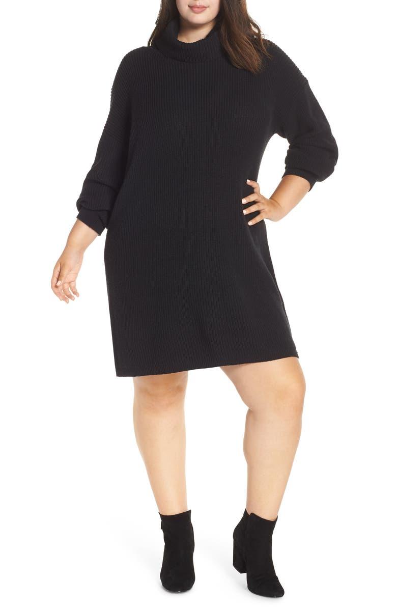 BP. Turtleneck Sweater Dress (Plus Size)   Nordstrom