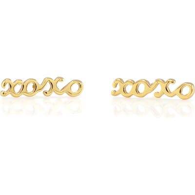 Kris Nations Xoxo Script Stud Earrings