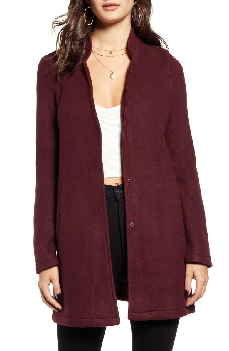 VERO MODA Katrine Brushed Fleece Jacket –, Main, color, PORT ROYALE