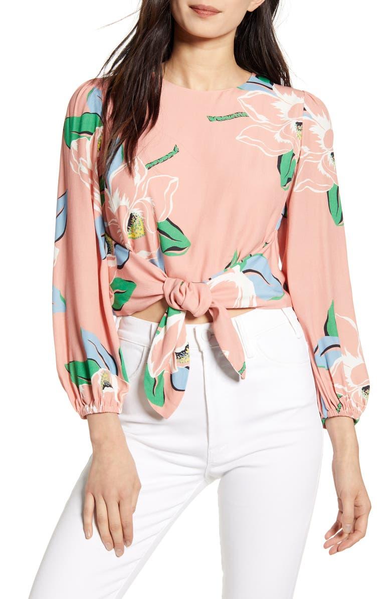 CAPULET Anais Floral Tie Front Top, Main, color, 680