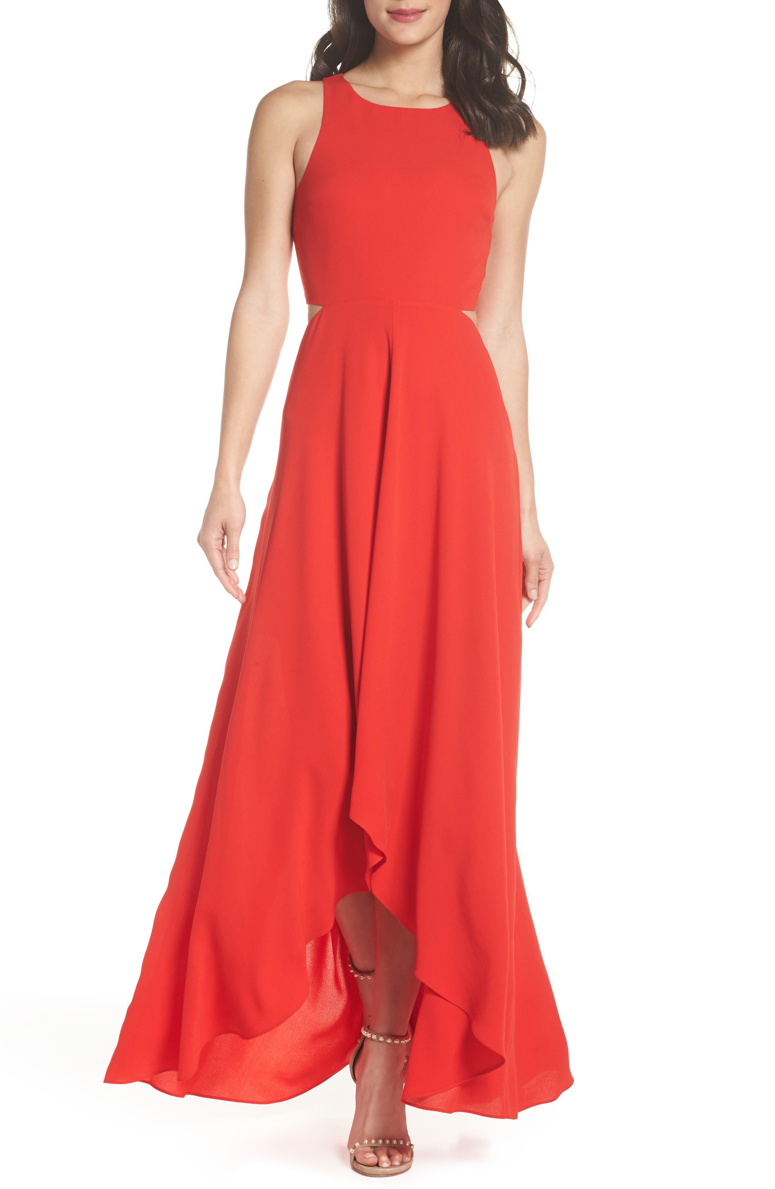 Ali & Jay Cutout Maxi Dress, Red
